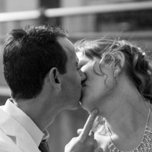 photo, mariage, couple
