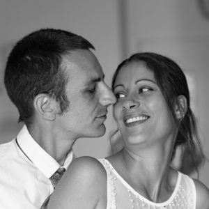 photo, mariage, couple